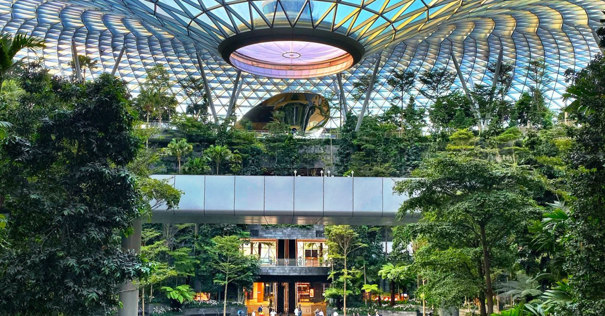 Garden of Eden at Singapore's Changi Airport