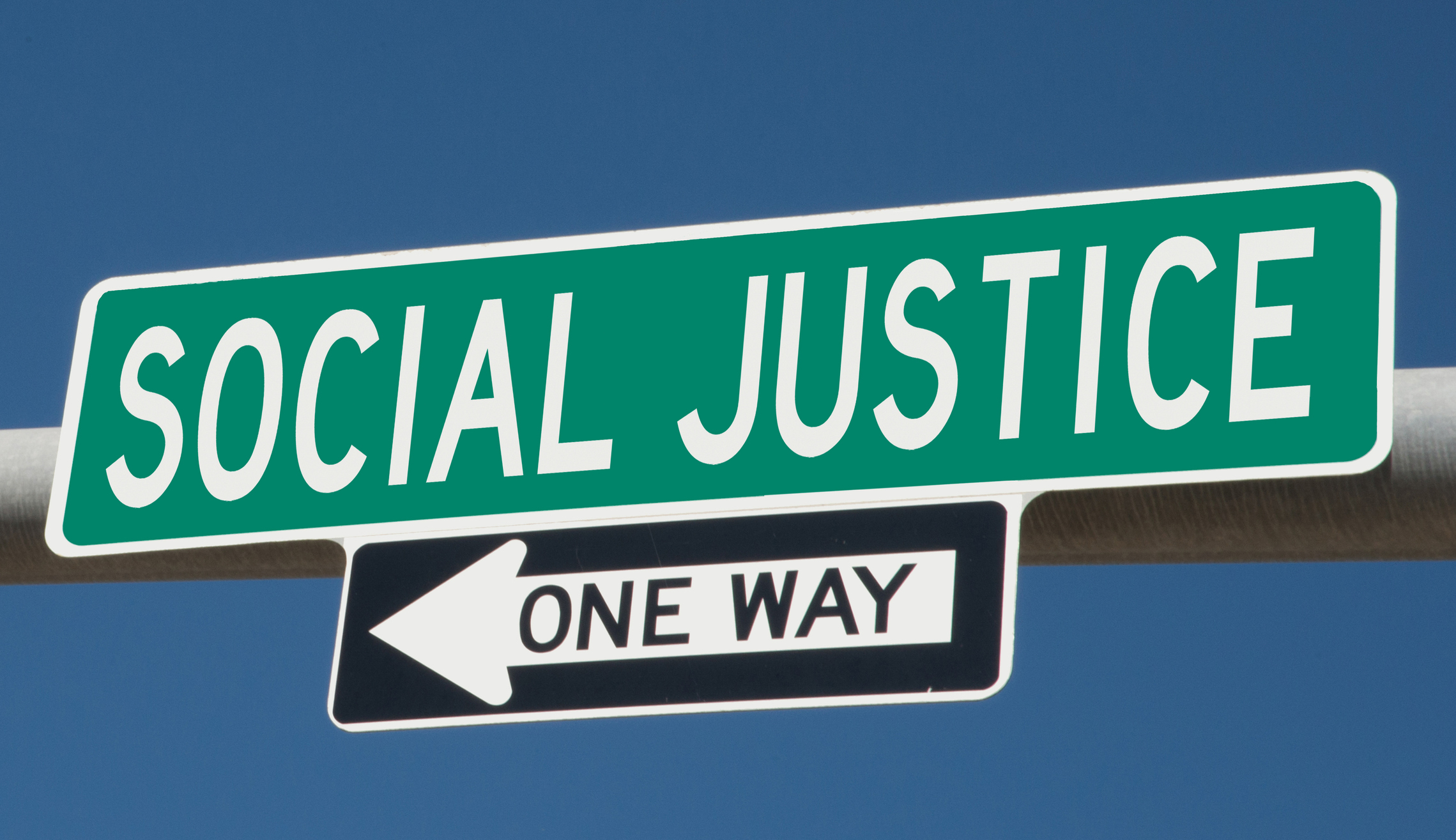 Social Justice Street Sign